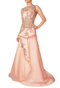 peach-organza-silk-draped-gown