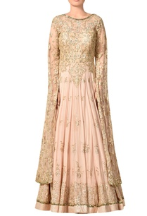 peach-embroidered-net-viscose-georgette-gown