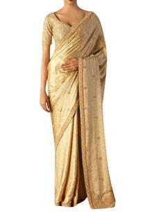 beige-satin-embroidered-saree