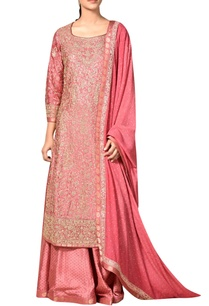 old-rose-embroidered-satin-silk-kurta-set