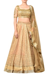gold-nylon-net-embroidered-lehenga-with-blouse-dupatta