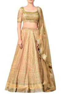 gold-nylon-net-embroidered-lehenga-with-blouse-dupatta