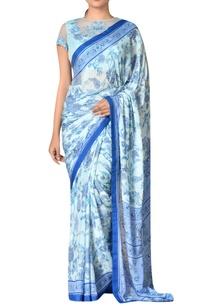 aqua-blue-viscose-chinon-embroidered-saree-with-blouse