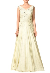 off-white-floral-embroidered-viscose-georgette-gown