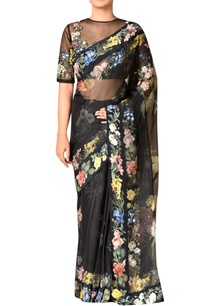 black-silk-organza-embroidered-saree-with-blouse