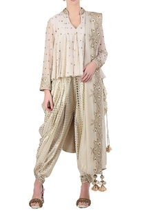 ivory-sequin-bead-embroidered-flared-top-with-dhoti-pants-dupatta