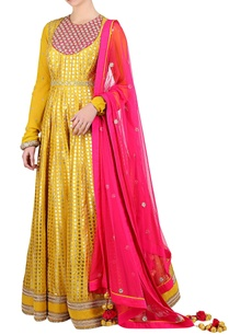 pitambari-yellow-silk-foil-printed-kalidar-anarkali-set