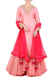 rose-pink-apple-cut-kurta-with-brocade-lehenga-dupatta