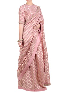lavender-pink-chanderi-brocade-saree-with-blouse