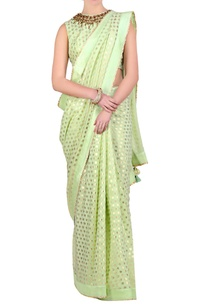 mint-green-foil-printed-sari-with-blouse