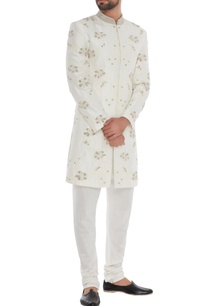 white-silk-hand-embroidered-sherwani-with-trousers