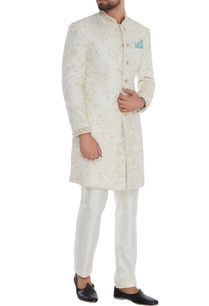 off-white-silk-embroidered-sherwani-with-off-white-trousers-teal-blue-pocket-square