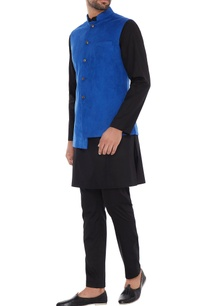 royal-blue-suede-nehru-jacket