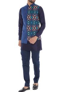 royal-blue-suede-dual-patterned-nehru-jacket