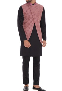dusty-pink-dupion-silk-overlap-nehru-jacket