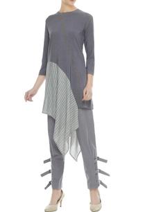 grey-organic-cotton-bamboo-fiber-asymmetric-kurta