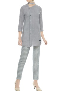grey-organic-cotton-bamboo-fiber-choker-style-kurta