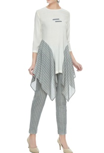 off-white-grey-flared-panelled-organic-cotton-tunic