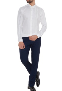white-cotton-machine-embroidered-slim-fit-shirt