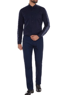 navy-blue-cotton-machine-embroidered-slim-fit-shirt