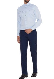 light-blue-cotton-button-detailing-slim-fit-shirt