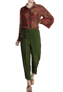 olive-green-malwari-linen-crinkled-chiffon-printed-shirt-with-tie-up-pants