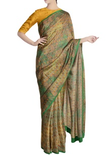 mint-green-ombre-garden-motif-sari-with-yellow-blouse-piece