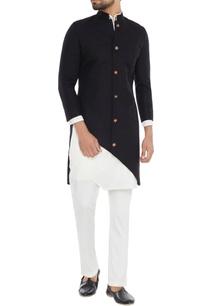 black-diagonal-cut-jacket-with-asymmetric-kurta-pants