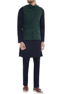 green-twill-nehru-jacket