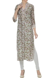 light-blue-viscose-dori-mirror-gota-work-straight-cut-kurta