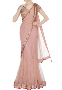 onion-peach-tulle-floral-lehenga-saree-with-blouse-petticoat
