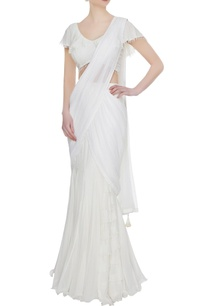 ivory-georgette-ruffled-pre-stitched-lehenga-saree-with-blouse