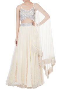 peach-net-cotton-silk-blouse-with-lehenga-dupatta