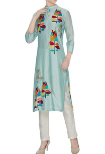 mint-blue-chanderi-silk-floral-patchwork-kurta