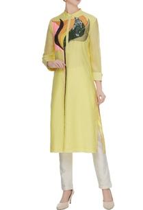light-yellow-cotton-silk-floral-patchwork-kurta