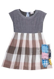 pink-grey-cotton-chequered-dress-with-patchwork-pocket