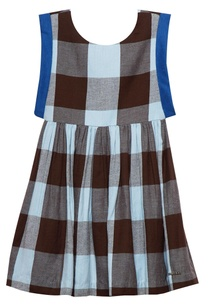 baby-blue-brown-cotton-chequered-dress