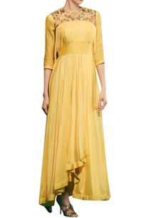 tonic-yellow-chanderi-raw-silk-asymmetric-gown-with-hand-embroidered-jacket