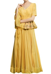 tonic-yellow-chanderi-hand-embroidered-peplum-gown-with-hand-embroidered-belt
