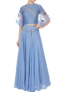 periwinkle-blue-silk-chanderi-honeycomb-embroidered-crop-top-with-full-umbrella-skirt
