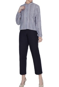 black-organic-poplin-quilted-ankle-length-pants