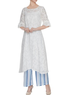 white-cotton-tunic-with-striped-pants-slip