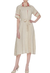 off-white-pintuck-dress-with-tie-up-belt