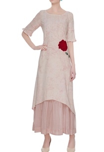 pink-rose-applique-tunic-with-slip