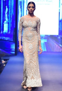 nude-beige-fitted-long-sleeve-embellished-gown
