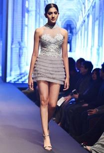 grey-white-net-thread-work-sequin-halter-mini-dress