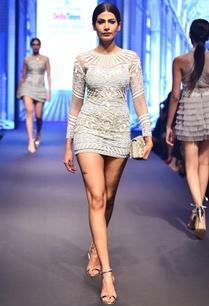 grey-white-net-sequin-long-sleeve-mini-dress