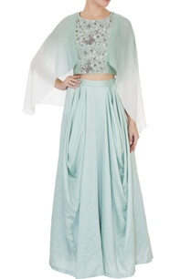 mint-green-crepe-silk-chanderi-ombre-crop-top-with-cowl-pants