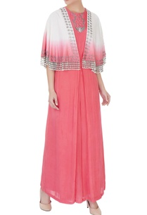 coral-off-white-silk-chanderi-crepe-zardozi-jumpsuit-with-cape