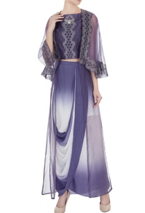 crepe-embroidered-crop-top-with-draped-skirt-organza-cape